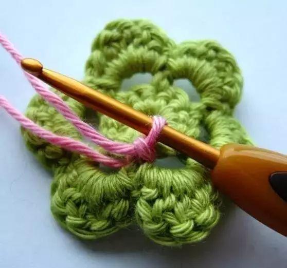 学习钩织一朵超实用的五层六瓣立体花