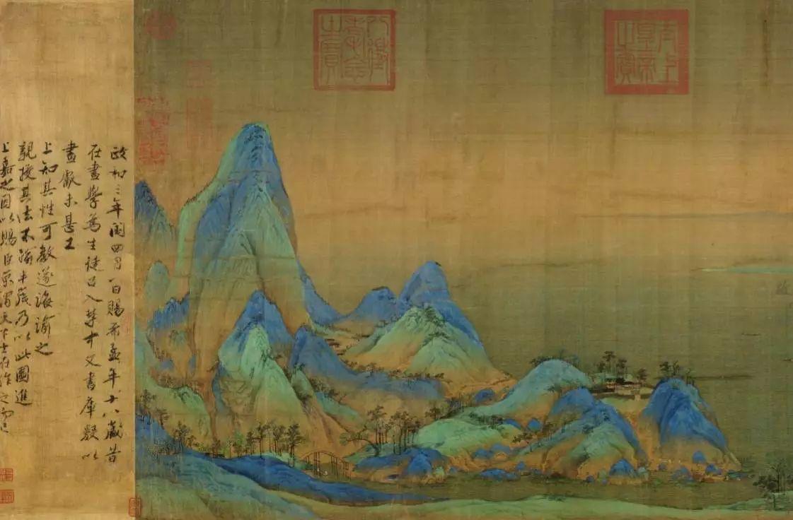 《千里江山图》 可前来观看 从王希孟到赵孟頫 呈现了中国古代书画图片