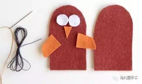 幼儿园创意手工制作萌萌的手指玩偶,这个手工它会动