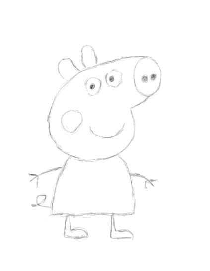 零基础学电脑手绘 照着画的简笔画宝宝学画画小猪佩奇