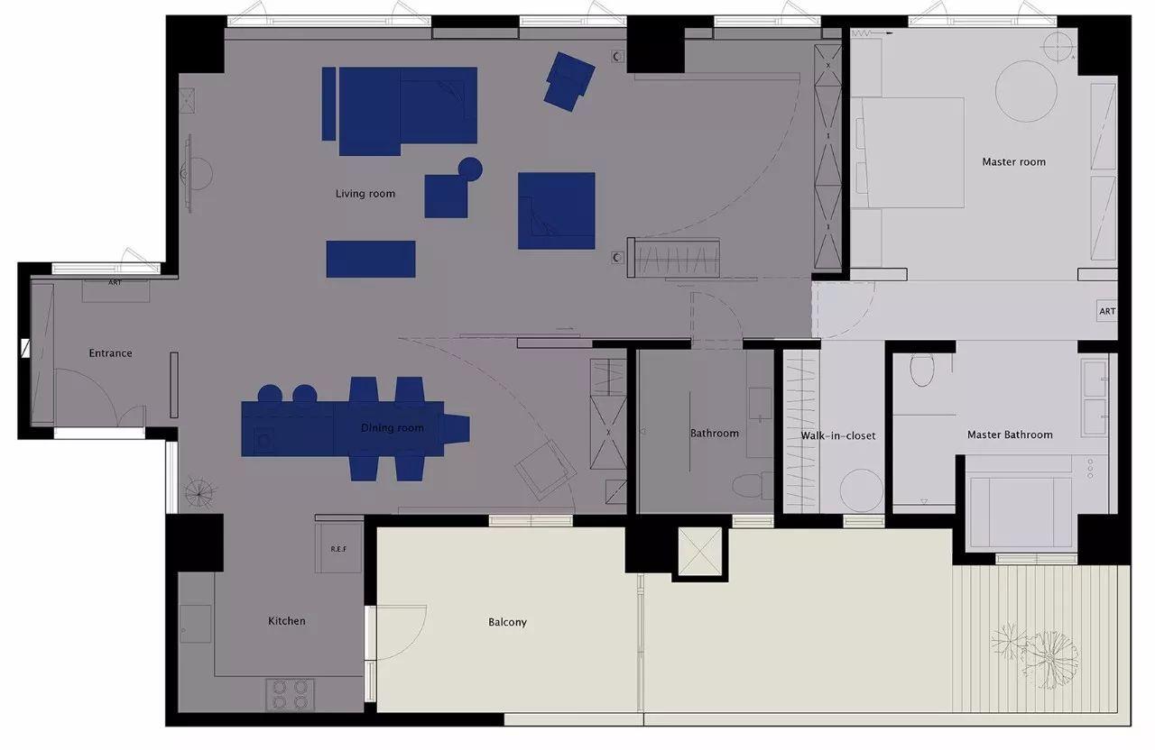 三卧室状态平面图
