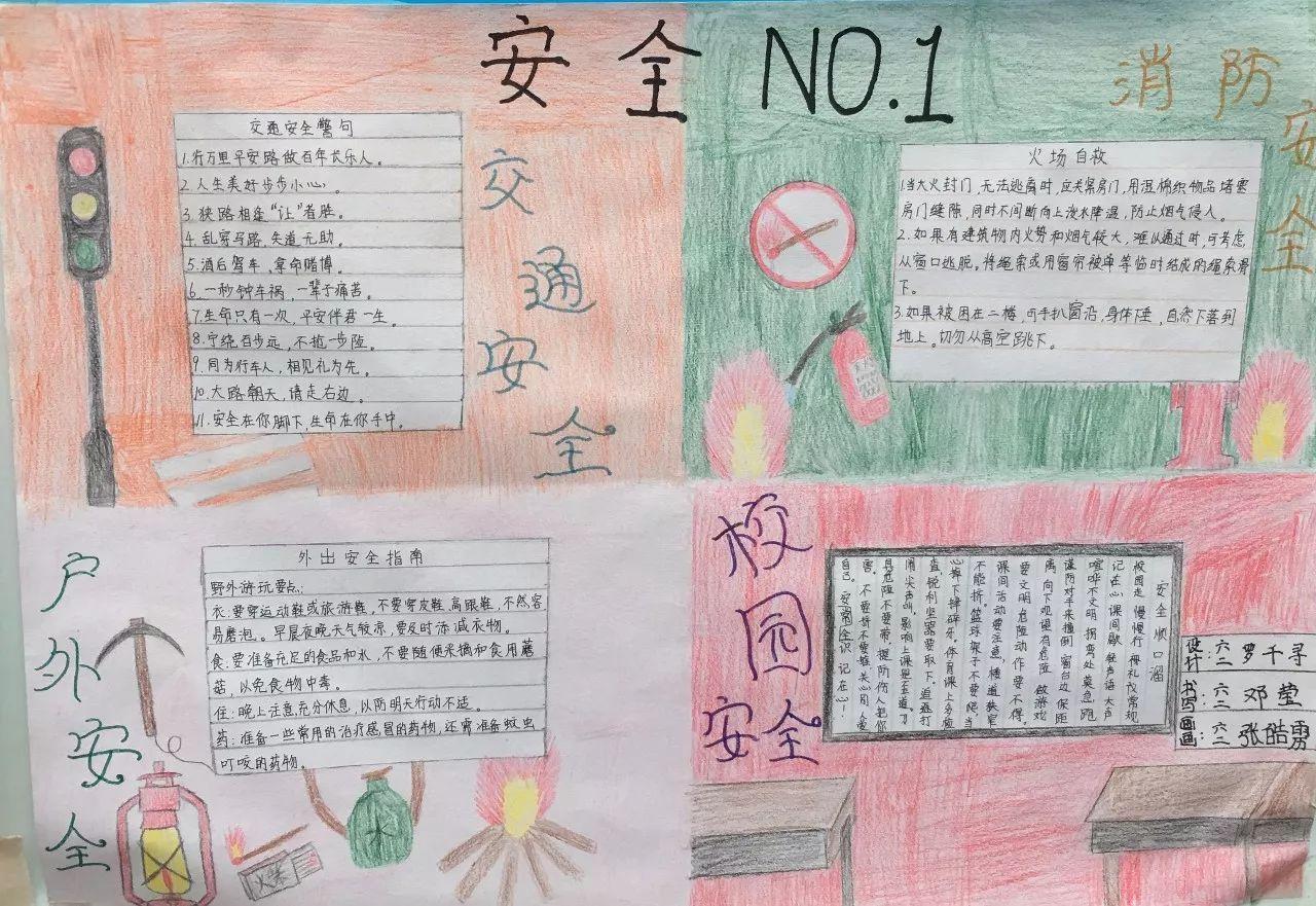 【特别关注】光明学校平安校园学生手抄报展