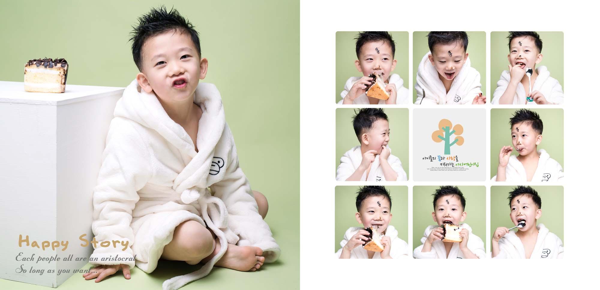 大拇指儿童摄影:一组韩系简约风的室内儿童摄影