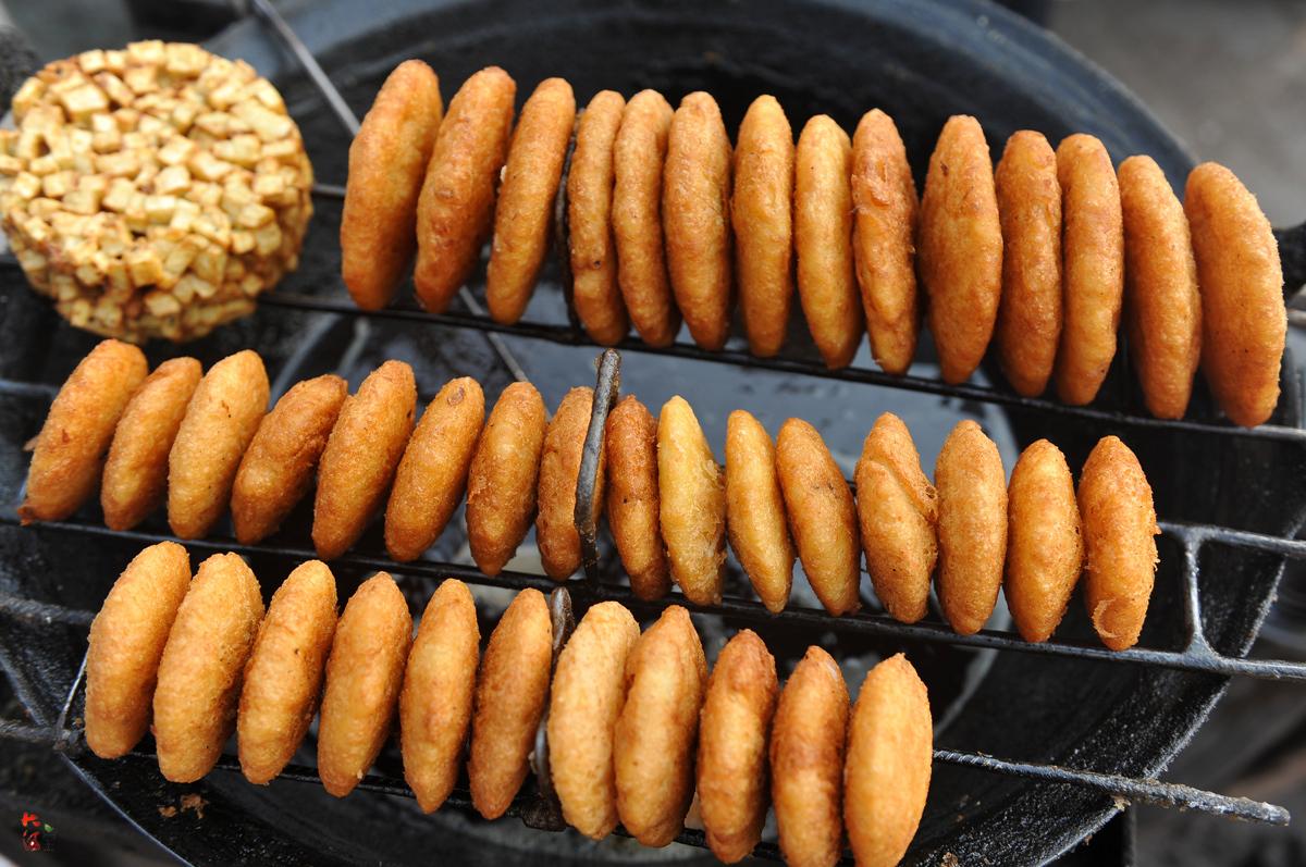 煮红薯面油糕的做法