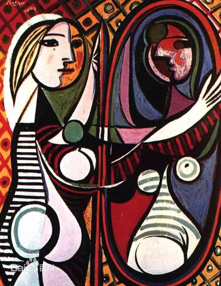 两幅画是毕加索立体派 描绘女人形象和新古典派风格相结合的产物