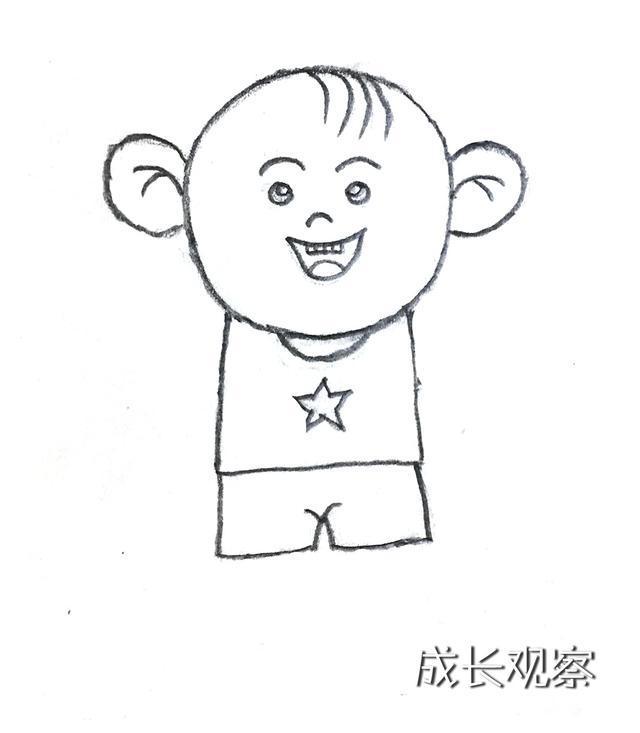 深受孩子喜爱的动画片《大耳朵图图》简笔画来了图片
