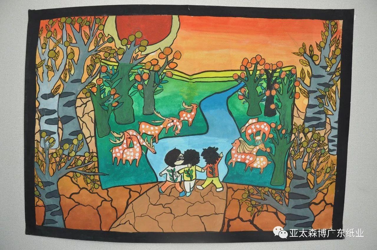 """第四届""""百旺杯""""中小学生环保绘画大赛举行颁奖典礼--100多名小画家喜图片"""