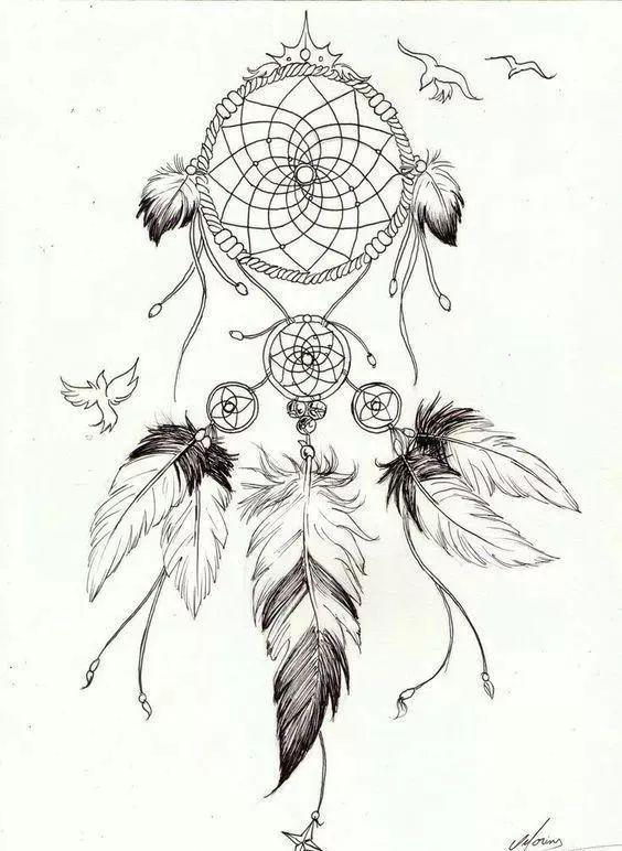捕梦网纹身素材