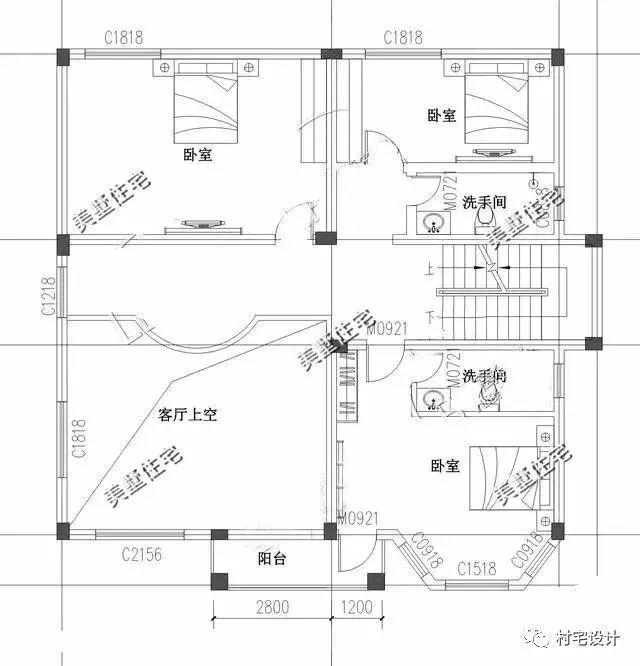 新农村三层欧式豪华别墅 挑空复式楼11x11米 楼顶带凉台!图片