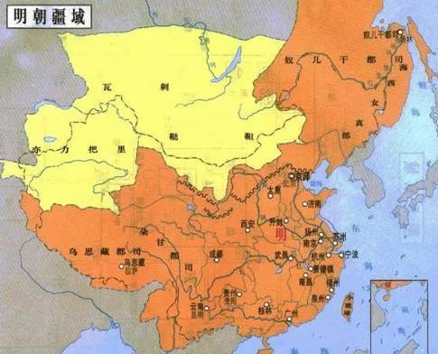 宣宗迁开平於独石,则东起辽海,南至琼,崖,北抵云,朔,东西万余里,南北