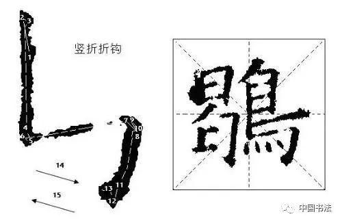 欧体的基本笔画 几种钩的写法