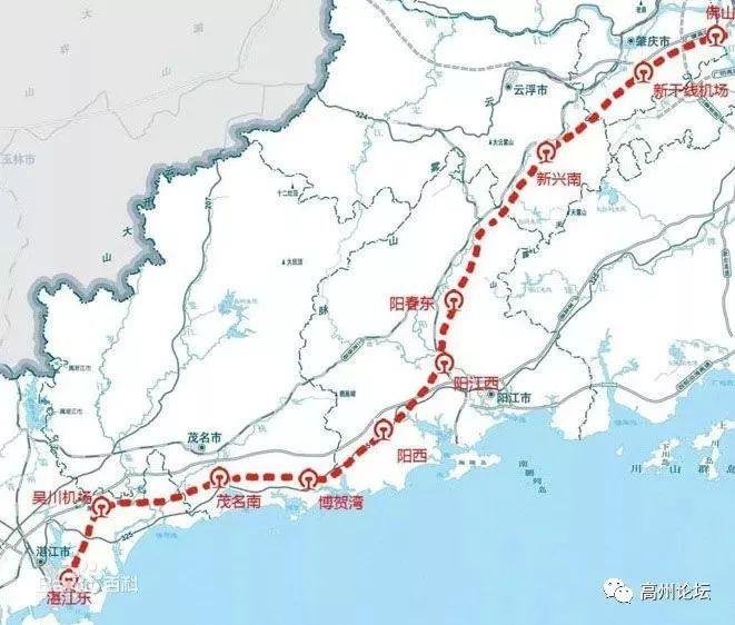广湛高铁走向终于被曝光了!廉江有站吗?