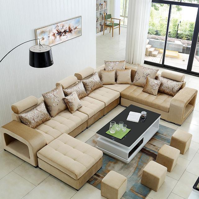现在特流行这种沙发,摆放在新房上档次,老婆一眼就看中l了图片