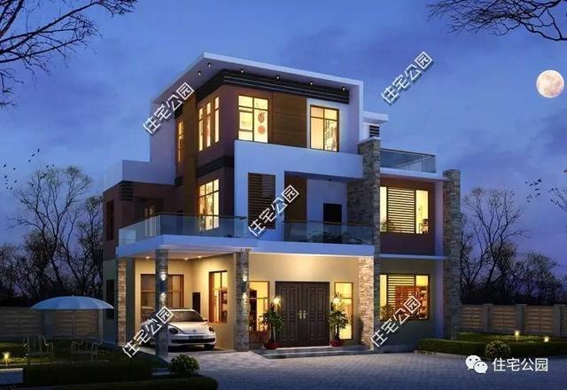 8套新农村现代别墅,第1套只要10多万你建?别墅中式新家具图片