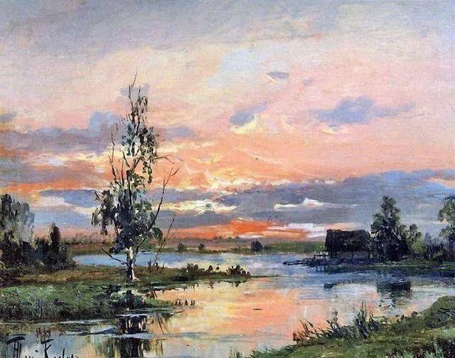 色彩风景画_他的风景油画色彩 或绚丽细腻,或浓郁厚重