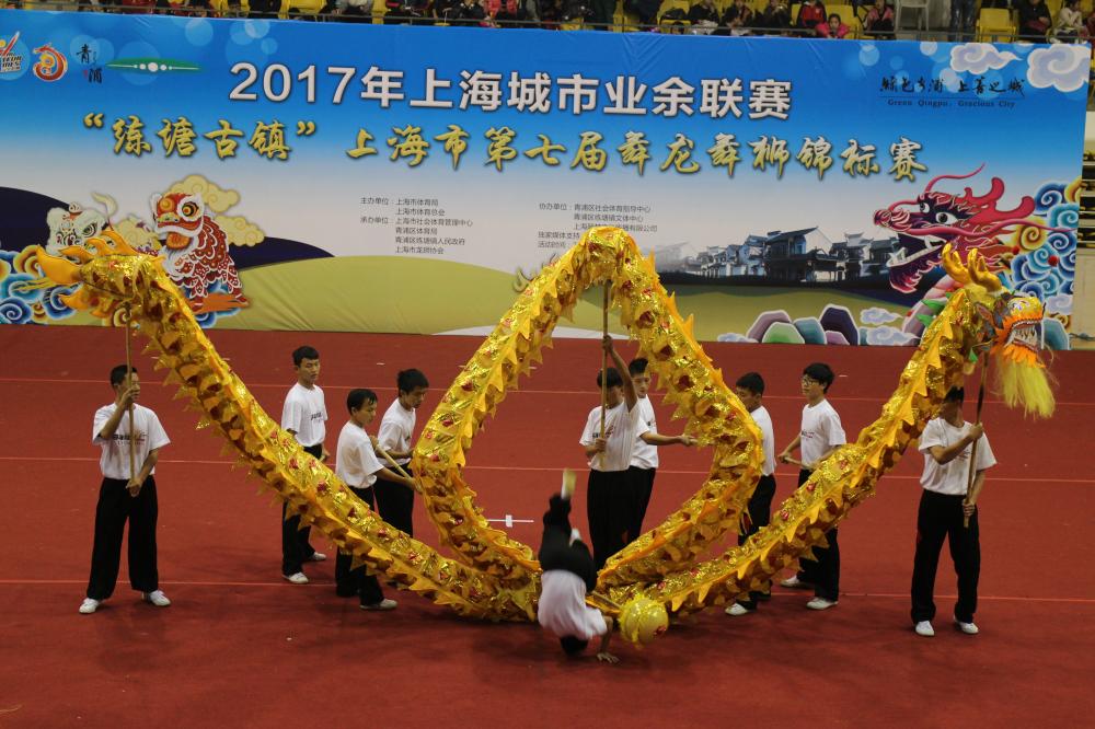 斌心学校在上海市第七届舞龙舞狮锦标赛上取得两项冠军