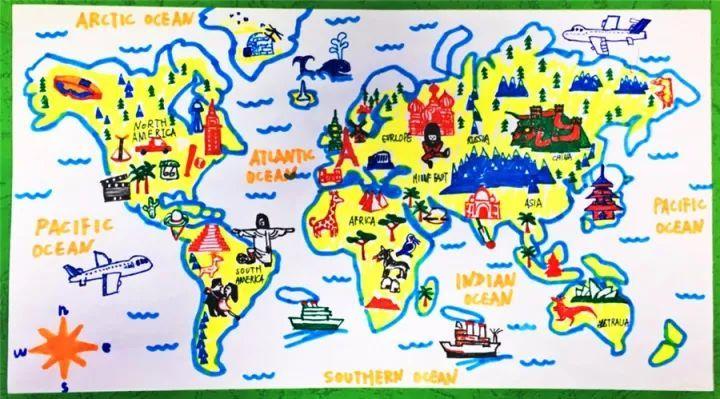 世界篇 创意手绘地图