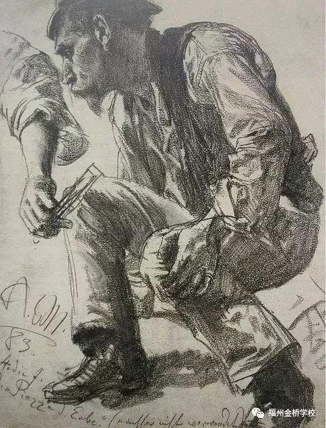 『 美术特色·鉴赏 』   阿道夫·门采尔的速写欣赏