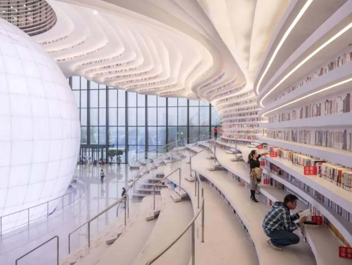 """它就是天津的""""滨海新区图书馆""""图片"""