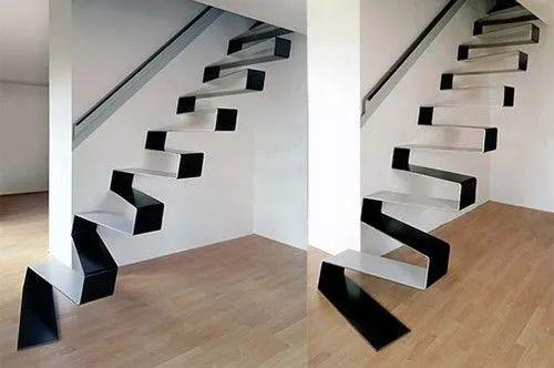 想要刺激,这样一个简单到极致的钢铁楼梯,简约不占空间,是不是很符合