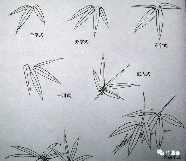 竹子的写意画法图文教程,分分钟成为国画大师