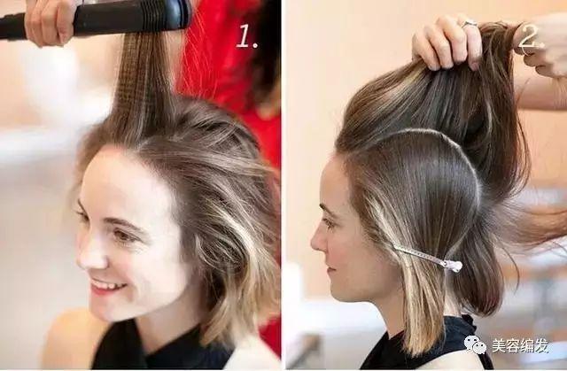 短发编发:每日发型教程超美短发编发步骤