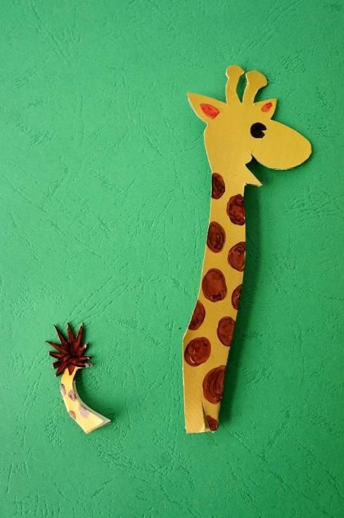 节日手工   四款长颈鹿的手工制作方法,幼师快来学习!