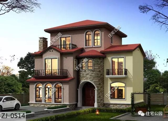 别墅别墅13x17米,托斯卡纳价格,5室3厅,a别墅实用!红螺寺农村风格图片