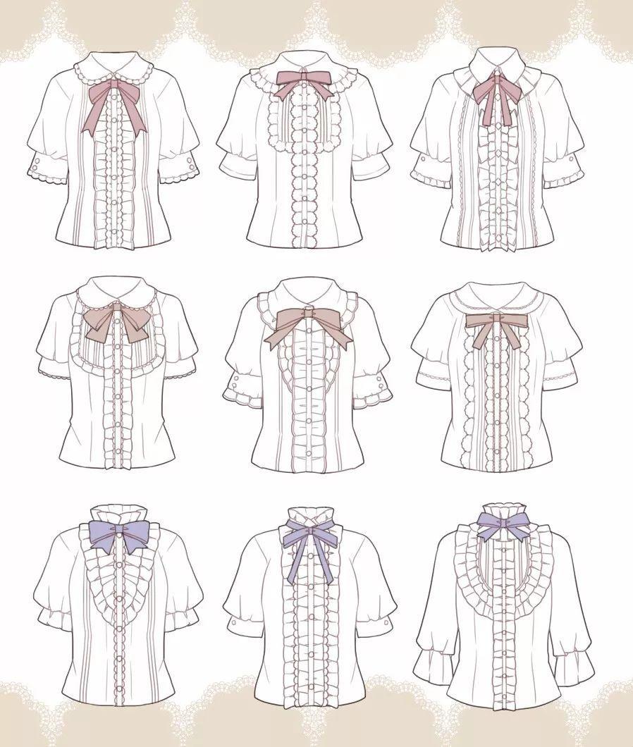 9张图教你设计优雅可爱的lolita装图片
