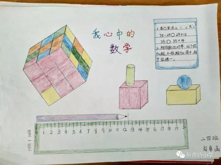 """数学节""""——新市场小学数学节之二年级绘制""""我心中的数学""""想象画比赛图片"""