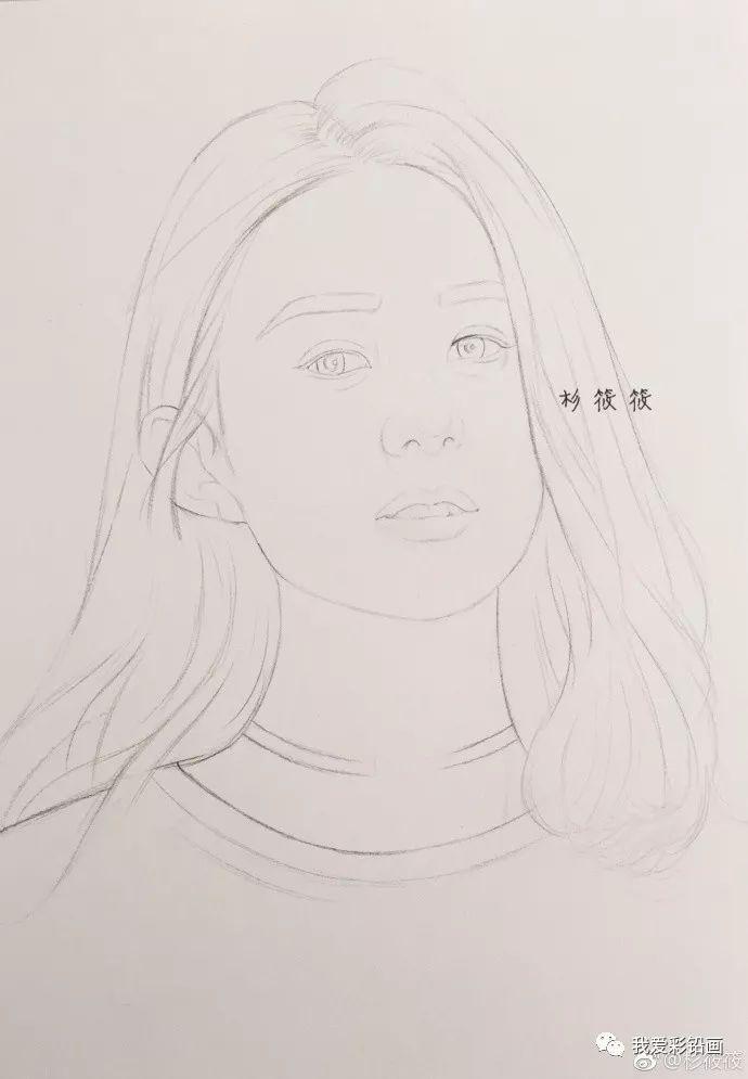 彩铅手绘颖宝@赵丽颖 (步骤过程)