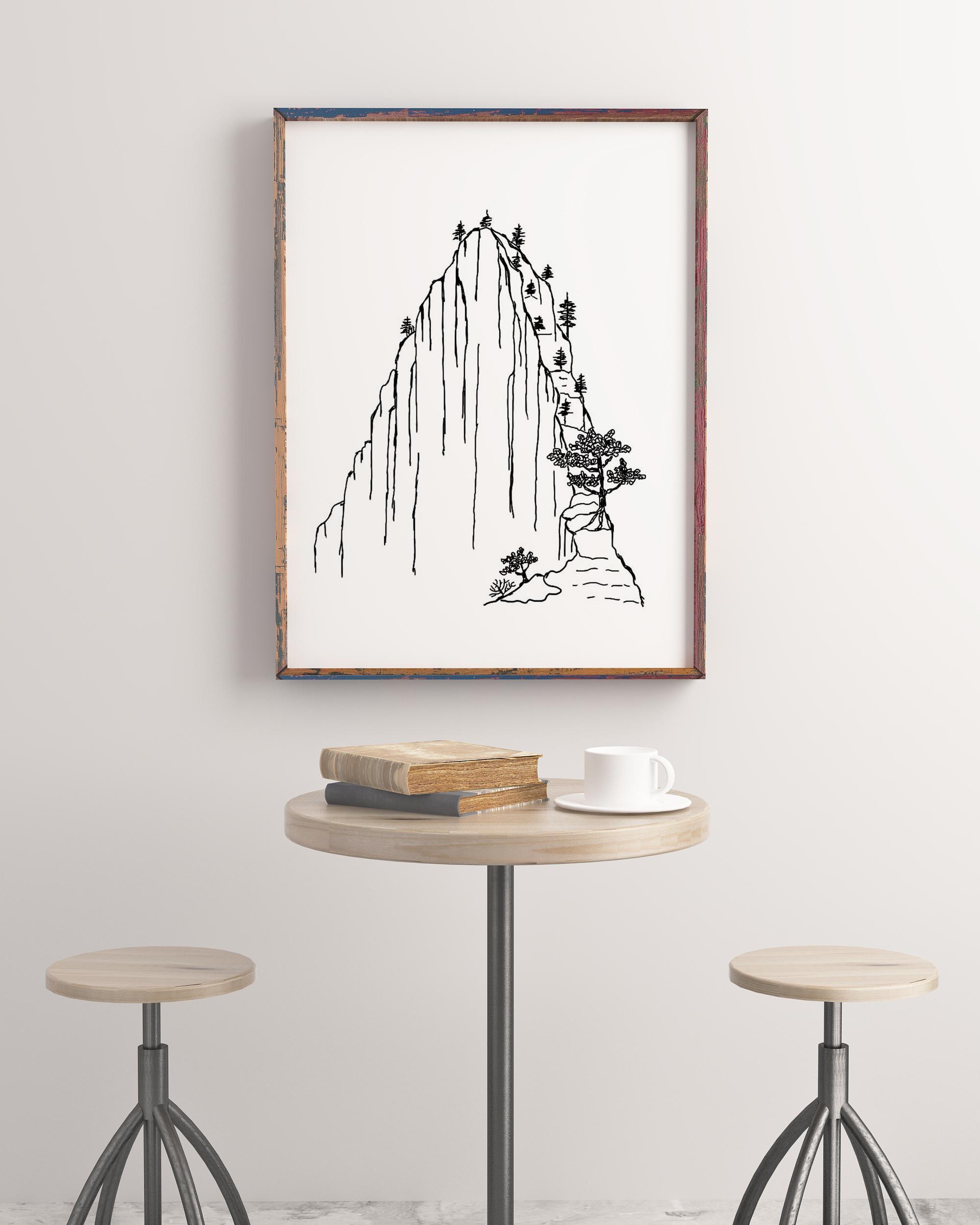 适合书房装饰的diy手绘简笔画 绝处逢生的生机