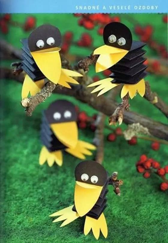 幼儿手工制作 乌鸦