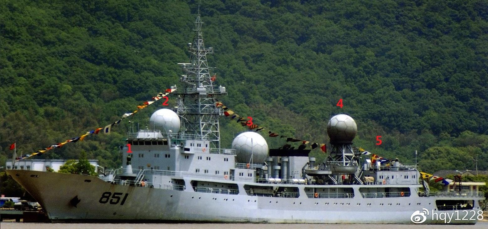 815a型电子侦察船图片