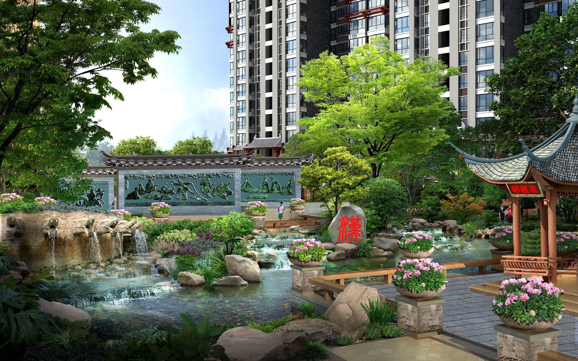 28宿情景雕塑,冶铁水排, 再现汉皇盛世; 汉风韵,中式古典皇家园林,尽图片
