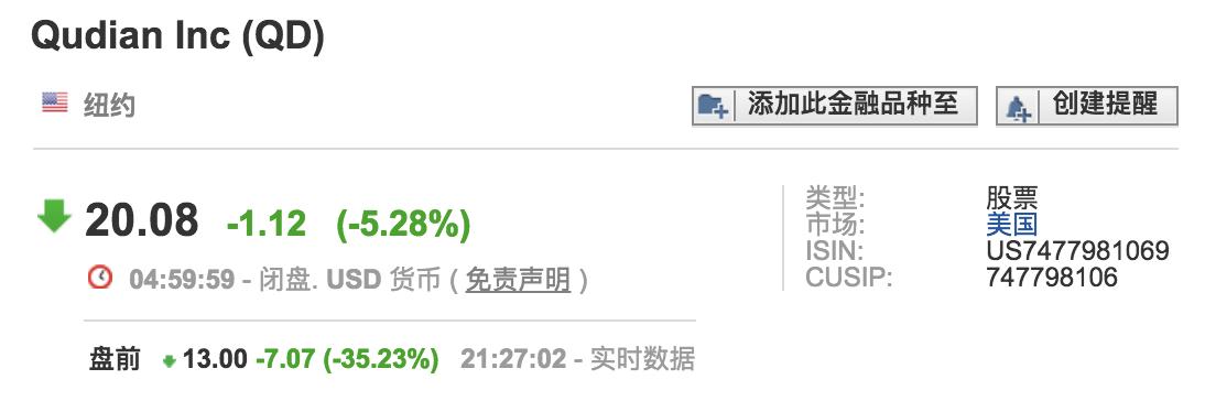 【早报】中国P2P公司在美股集体大跌
