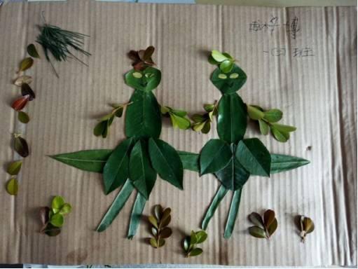 学生创意树叶拼贴画作品展第八篇丨小小手,把树叶,变成画!图片