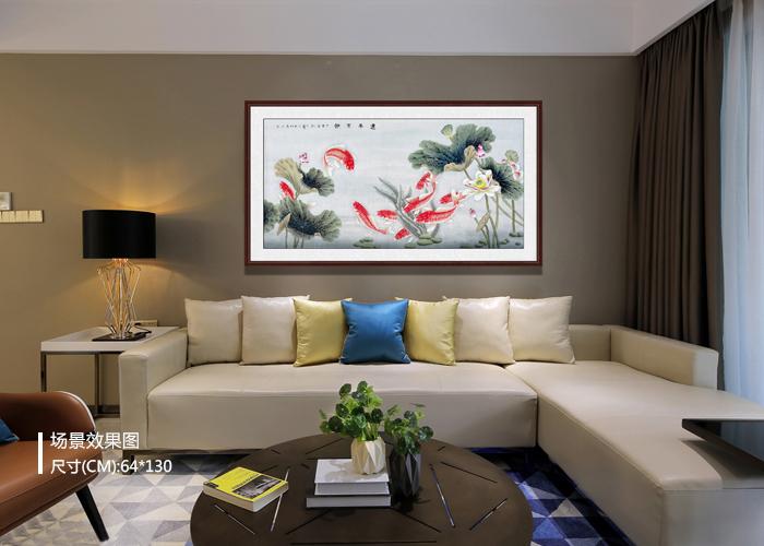 客厅沙发背景墙挂啥画 国画花鸟画来帮忙图片