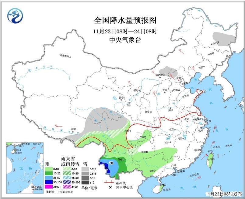 云南华南等地有中到大雨_冷空气将影响北方地区