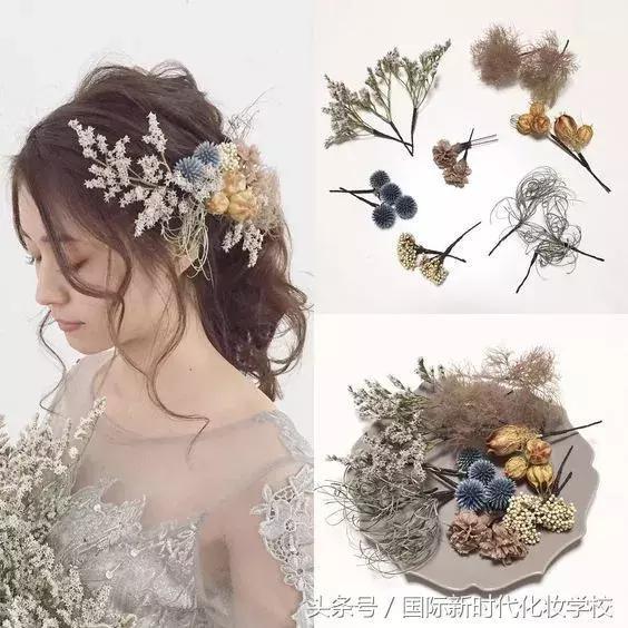 唯美的鲜花新娘发型,美极了图片