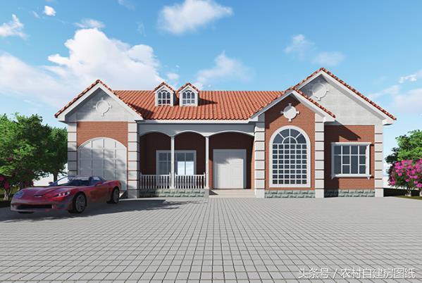 3款一层农村别墅设计图,平房也可以建的很豪华,看完都