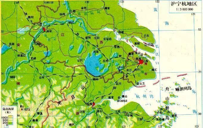 科研人员在上海崇明岛,江苏扬州,南通等不同地区钻孔,对长江三角洲