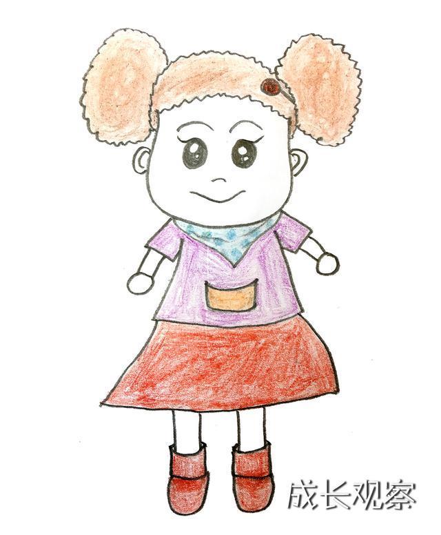 胖妈妈简笔画_《棉花糖和云朵妈妈》之云朵妈妈的小棉袄——棉花糖