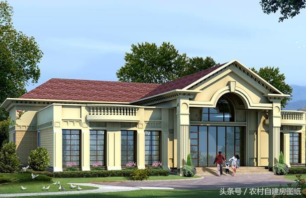 3款一层农村别墅设计图,平房也可以建的很豪华,看完都想拆楼房