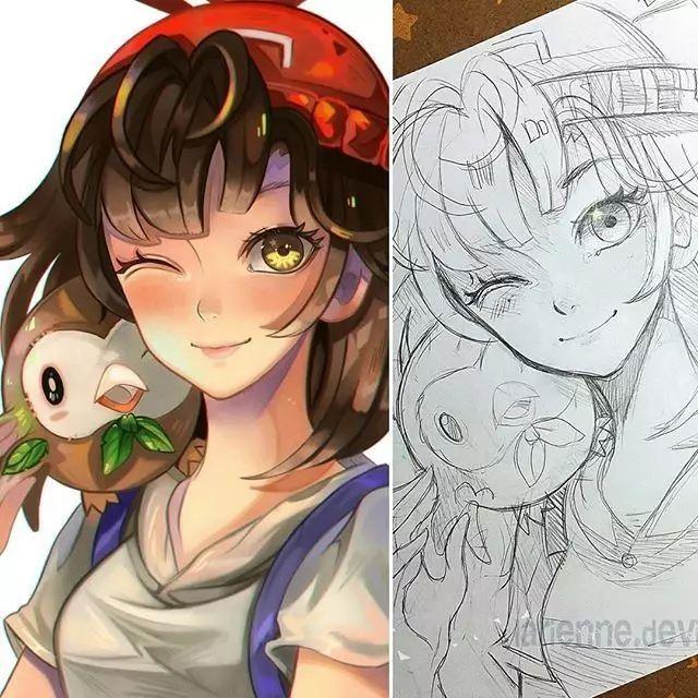 美女大神偏爱手绘动漫,这样的画风你喜欢吗?
