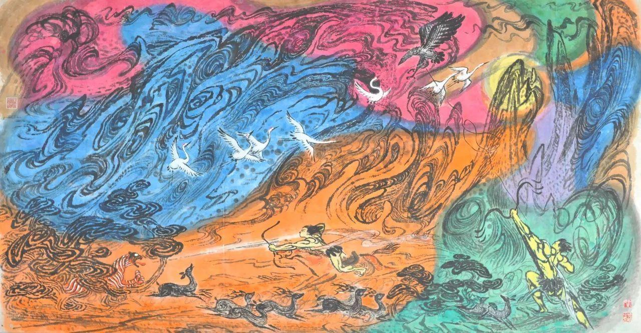 类似于人体艺术的_在承袭中国山水画传统的同时,仇德树将其转化为具有当代艺术风格的