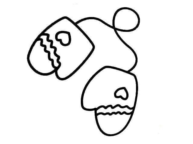 儿童手套简笔画
