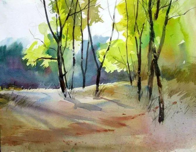 ▼ miguel linares ríos 喜歡用濕畫法營造意境,作品多為建筑風景畫.