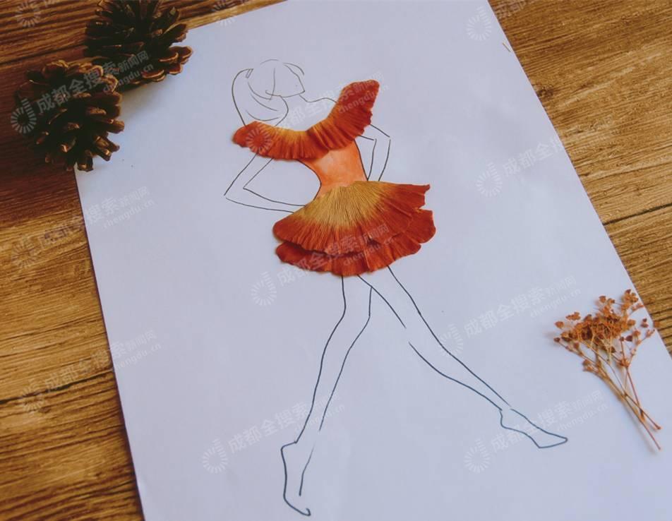 正文  一个像夏天,一个像秋天~ 直到初冬时节 一朵银杏扎成的玫瑰花图片