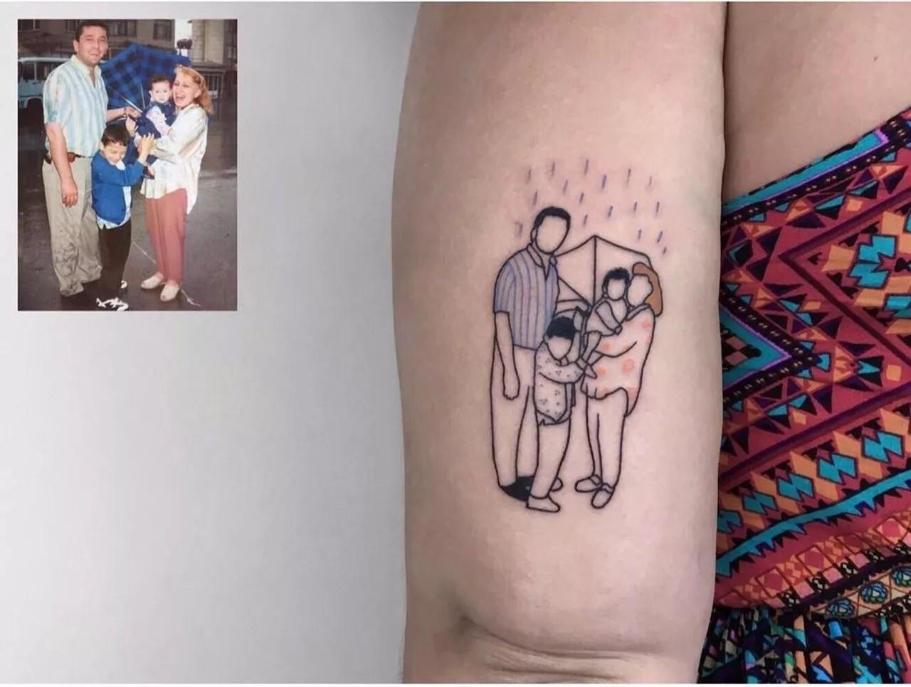 在所有旧照片纹身中 有关家人的内容占了最大比例 爱人/父母/孩子 有